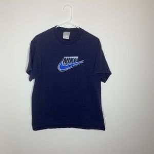 SOLD Mens L Navy Blue Nike Spellout Short Sleeve